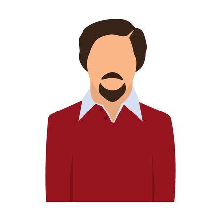 Businessman faceless avatar, icon. Vector illustration.