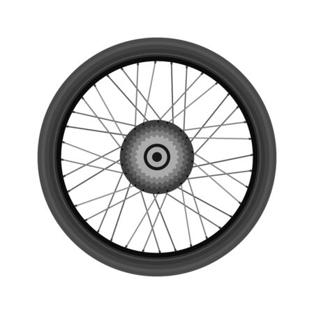Bike wheel, realistic design. Vector illustration. Vectores