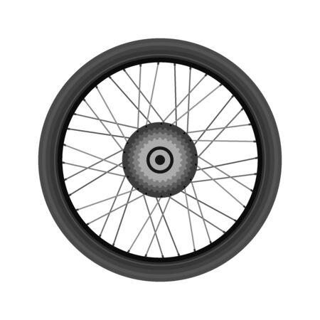 Bike wheel, realistic design. Vector illustration. Illustration