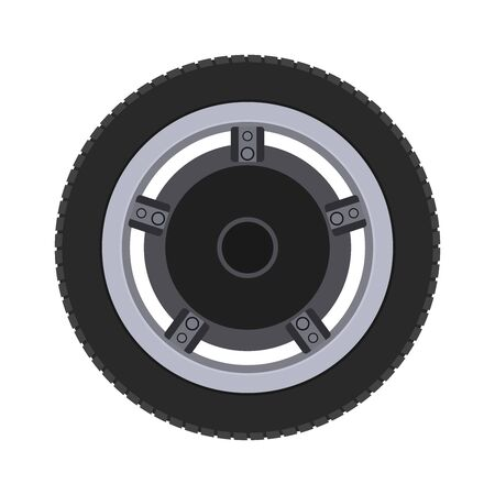 Scooter wheel, realistic design. illustration.