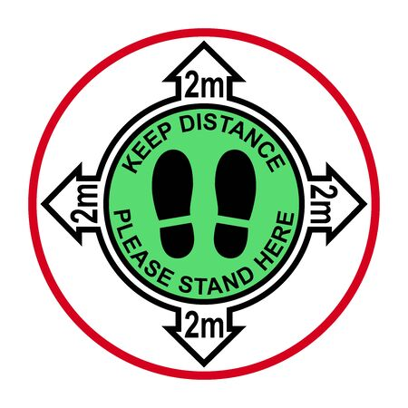 Social distancing, infographic elements. Keep distance 2 meter. Vector illustration.
