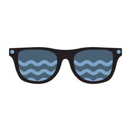 Dark Sunglasses. Vector illustration on white background.