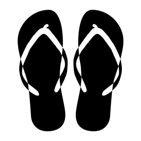 Beach slippers, icon. illustration on a white background.