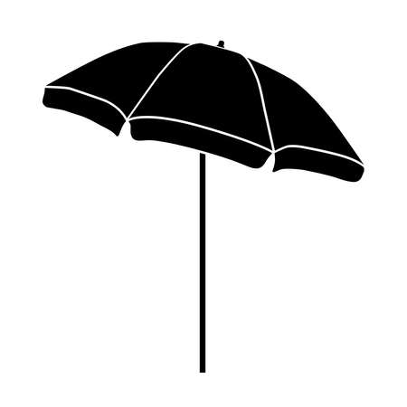 Beach umbrella, icon. illustration on a white background.