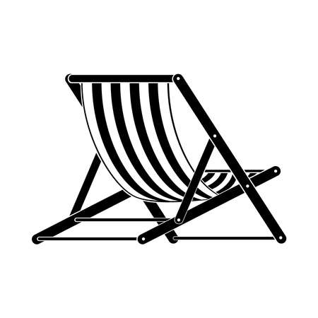 Deck chair, icon. illustration on a white background.