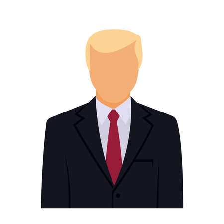 Male faceless avatar, icon. Vector illustration isolated on white background.