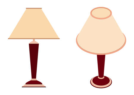 Isometric table lamp. 3D render. Vector illustration on a white background.