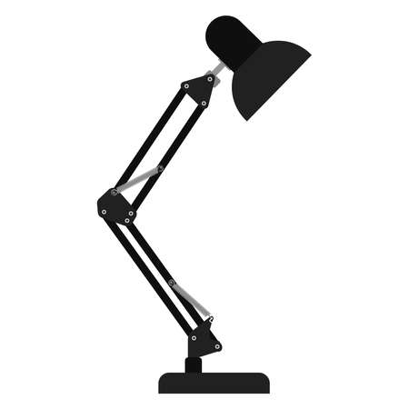 Table lamp.Vector illustration on a white background.