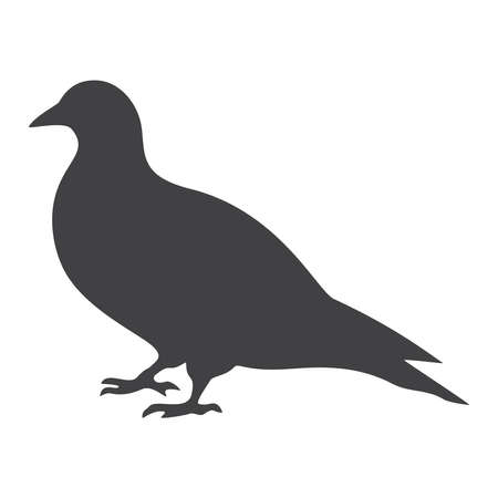 Dove silhouette, icon. Vector illustration on a white background.