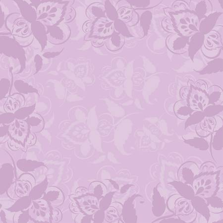 Abstract background, symbolical outline flowers on a lilac background Vector