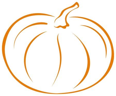 Vegetable, pumpkin, vector, monochrome symbolical pictogram on white background
