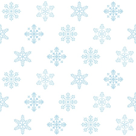 Seamless Christmas background: blue snowflakes on white. Vector Stock Vector - 10730615