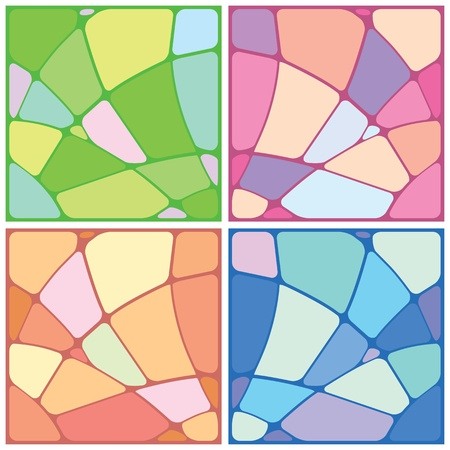 Set abstract mosaic background of the various elements. Vector Vector