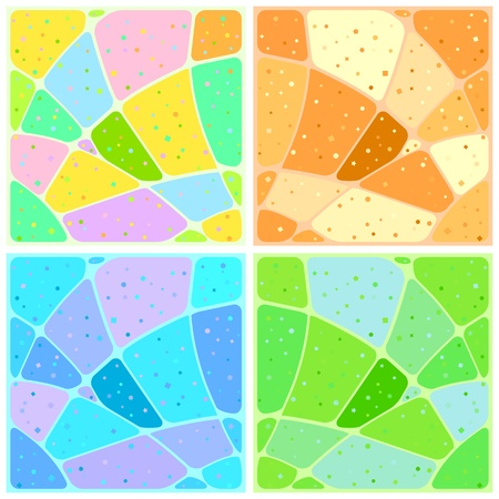 Set abstract various mosaic backgrounds with patterns. Vector Stock Vector - 11529435