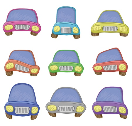 Cartoon: set various cars, isolated on white background. Vector Vector