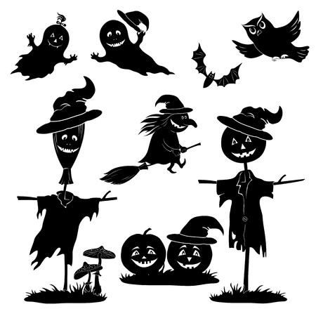 scarecrow: Halloween de dibujos animados
