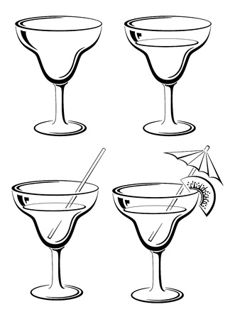 goblet: Glasses with drink