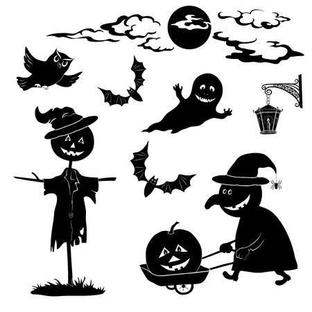 autumn scarecrow: Halloween cartoon