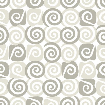 Abstract seamless background, wallpaper with grey spiral  Vector Vector