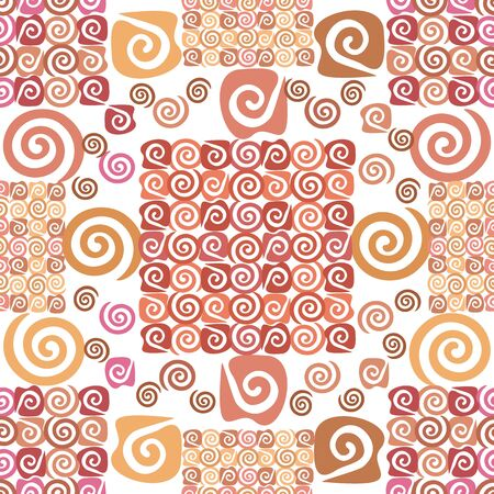 Abstract seamless background, wallpaper with pattern of spirals Stock Vector - 17710394