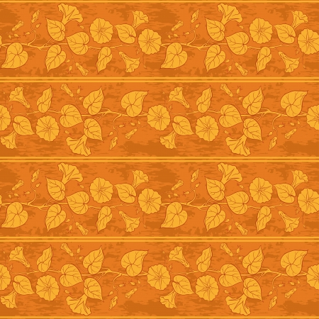 Seamless floral background, ipomoea flowers, leaves and stripes  Vector Stock Vector - 17815005