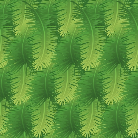 palm branch: Seamless background, green branches with leaves of palm trees