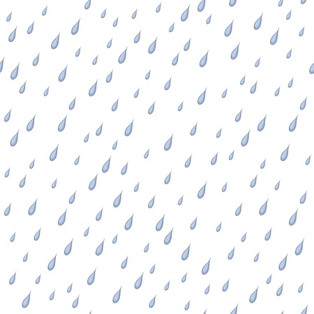naturalistic: Seamless background, rain drops isolated on white. Vector
