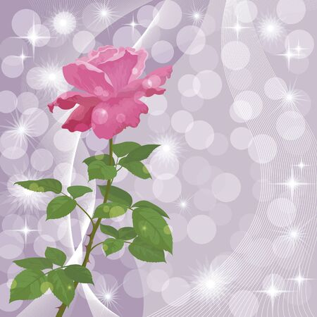 flower rose: Holiday background with flower rose and abstract pattern