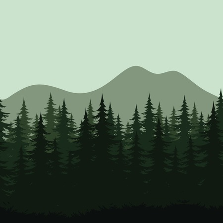 coppice: Seamless background mountain landscape