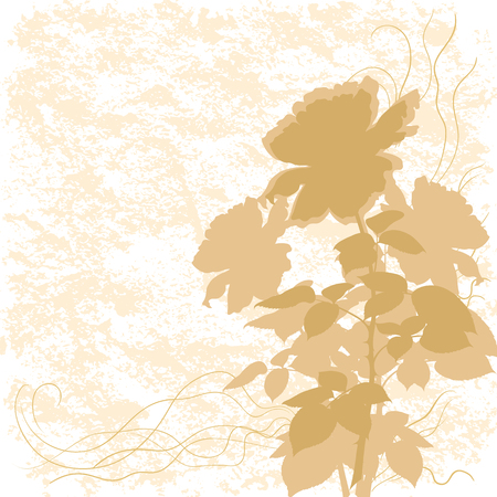 flower rose: Holiday background with flower rose silhouette and abstract pattern.