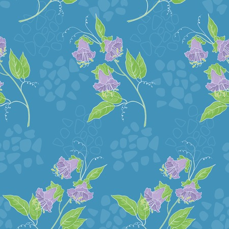 kobe: Seamless floral background, kobe flowers and abstract pattern.
