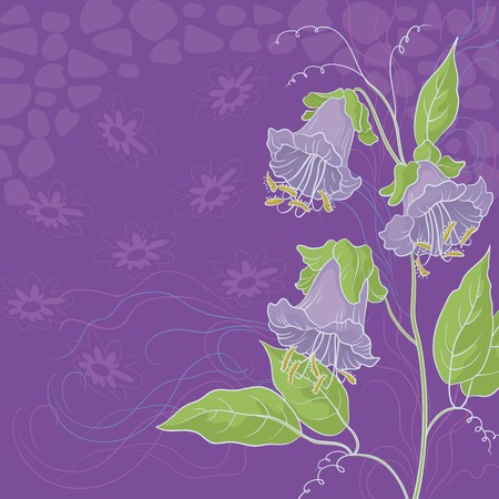 kobe: Floral background, Kobe flowers and abstract pattern. Vector