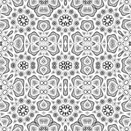 konturen: Zusammenfassung nahtlose Muster, Getrennte schwarze Konturen auf wei�em Hintergrund. Vektor