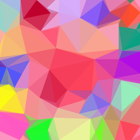 variegated: Low Poly Abstract Pattern, Colorful Polygonal Background. Illustration