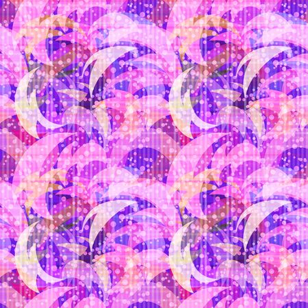 A Seamless Background with Abstract Colorful Tile Pattern. Eps10, Contains Transparencies. Vector.