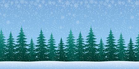 newyear: Christmas Holiday Seamless Horizontal Background Illustration