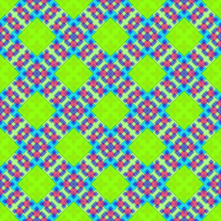 Seamless Background with Abstract Colorful Tile Geometric Pattern. Ilustrace