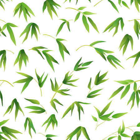 Exotic bamboo leaves Pattern 矢量图像