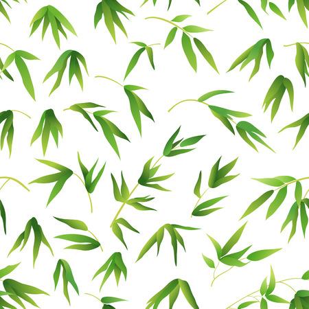 Exotic bamboo leaves Pattern Ilustração