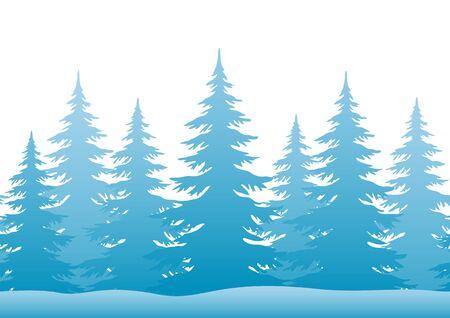 Seamless Horizontal Christmas Holiday Illustration