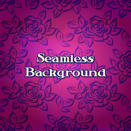 Seamless, Flowers Rose Contours