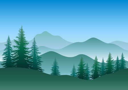 Trees and Mountains