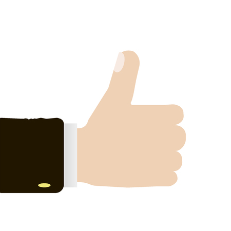 Many thumbs up. Social network likes, approval, customers feedback concept. Modern design concepts for web banners, web sites, printed materials, infographics. Creative vector illustration