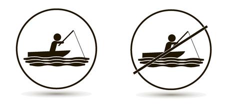 vecteur homme nage dans la mer ou la mer et attrape ensemble de poissons de mer d & # 39 ; un fond blanc
