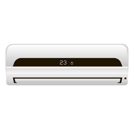 Aire acondicionado casero moderno. Un sistema de división realista. Control climatico Foto de archivo - 78418063