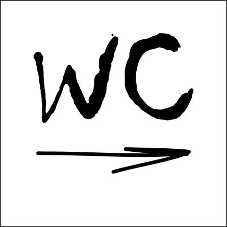 WC / Toilet door plate icon Illustration