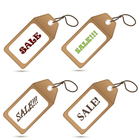 Set of stickers sale. Business sale retro tag label vector illustration on white background.