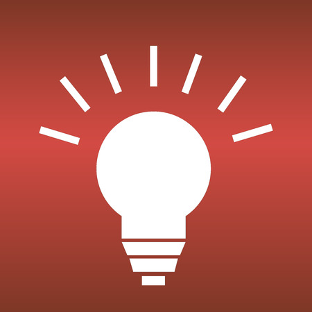 Energy vector icon on red background