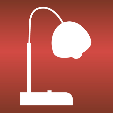 lightening: Energy vector icon on red background