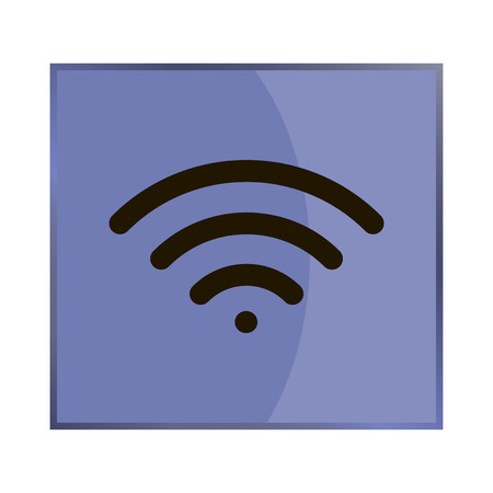 wi: Vector icon wi -fi Illustration